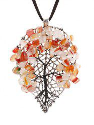 Handmade Beaded Autumn Tree Necklace -