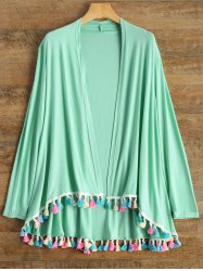 Long Sleeve Fringes Cardigan
