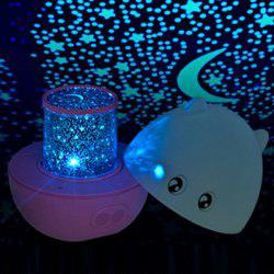 USB Charging Cartoon Pig Projection 360° Rotating with Music Night Light - PINK