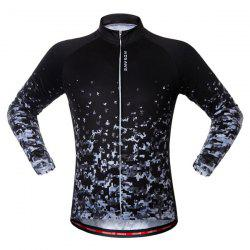 Breathable Long Sleeve Shadow Pattern Cycling Jersey -