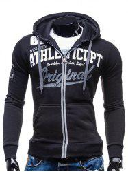 Hooded Zip-Up Graphic Print Hoodie