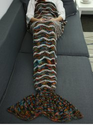 Winter Thicken Knitted Sleeping Bag Wrap Sofa Mermaid Blanket