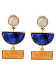 Geometric Faux Gem Drop Earrings