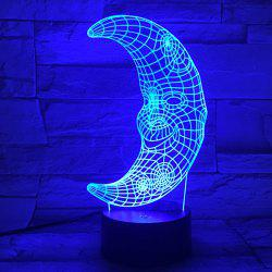 3D Visual LED Colorful Moon Shape Bedroom Party Decor Night Light