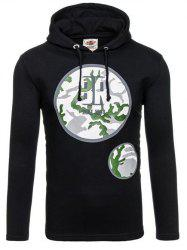 Active Graphic Printed Pullover Hoodie -