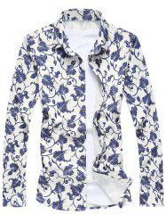 Floral Printed Long Sleeve Shirt