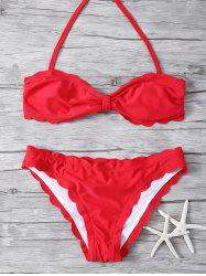 Stapless Scalloped Bikini Set -