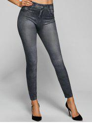 Vintage Skinny Leggings - GRAY