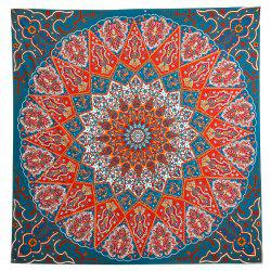 Indian Mandala Print  Square Beach Throw -