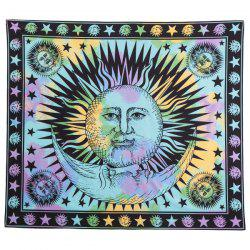 Retro Sun God Totem Beach Throw