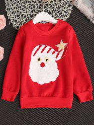 Kids Santa Claus Crew Neck Christmas Sweatshirt