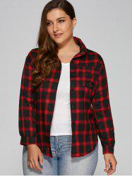 Flannel Plus Size Plaid Shirt -