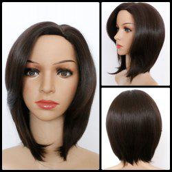 Medium Natural Straight Side Parting Bob Synthetic Wig