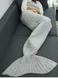 Super Soft Sleeping Bag Wrap Sofa Mermaid Plush Throw Blanket -