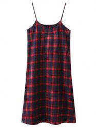 Tartan Slip Midi Dress