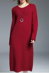 Ribbed Long Sweater Dress -
