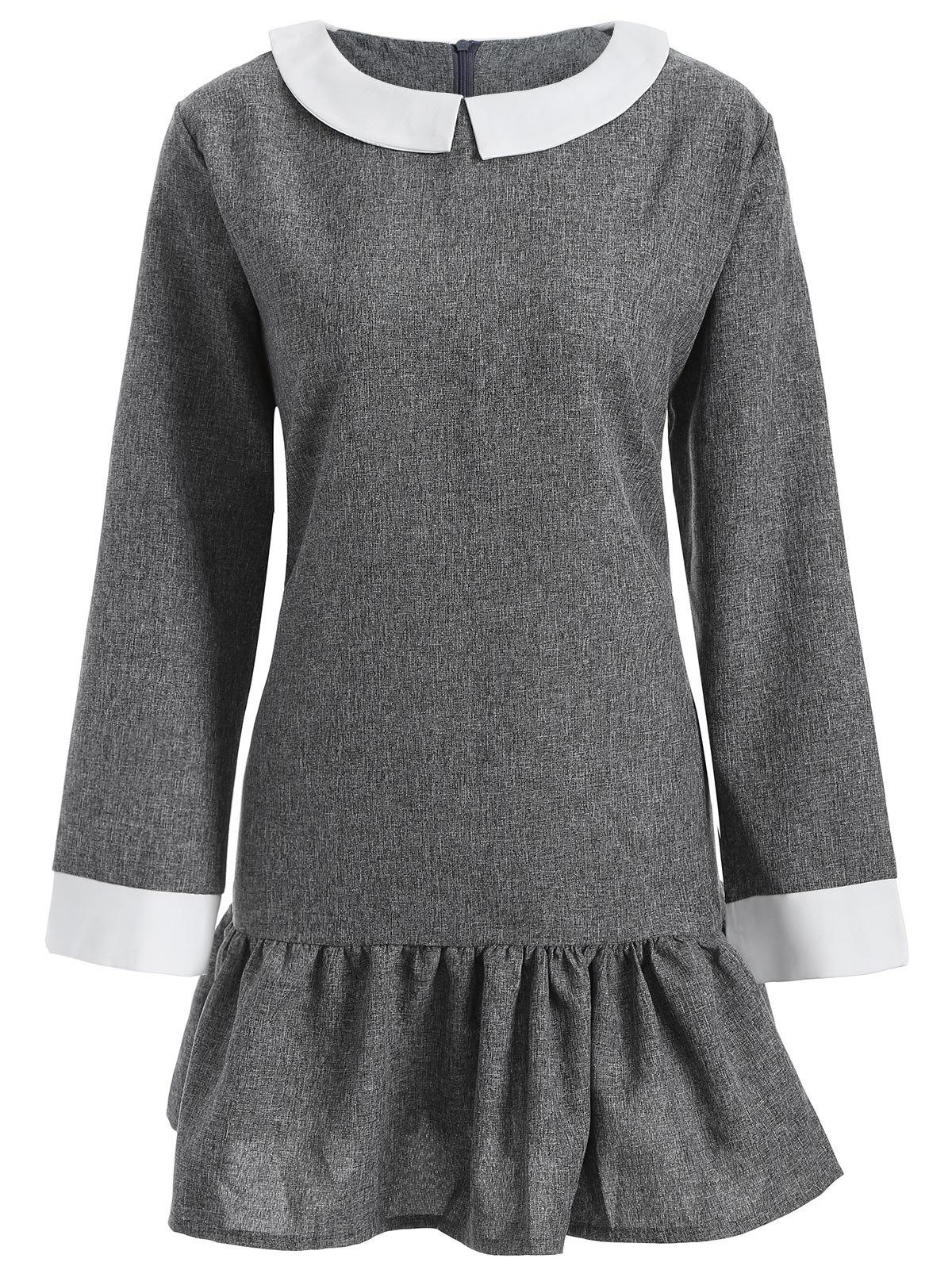 30% OFF] Plus Size Peter Pan Collar Dress | Rosegal