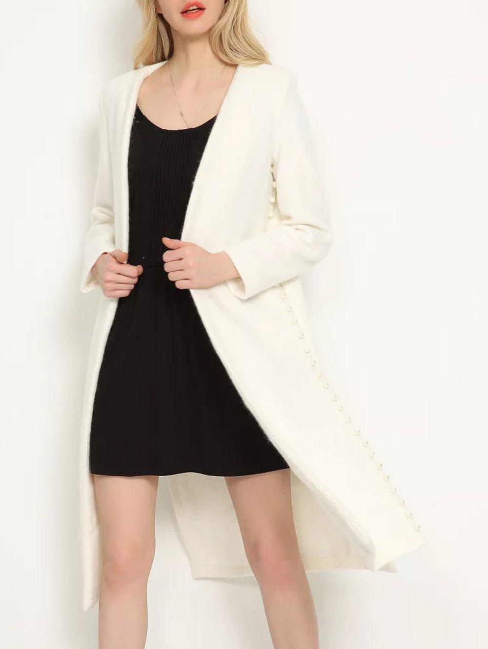 Affordable Open Front Beaded Duster Coat