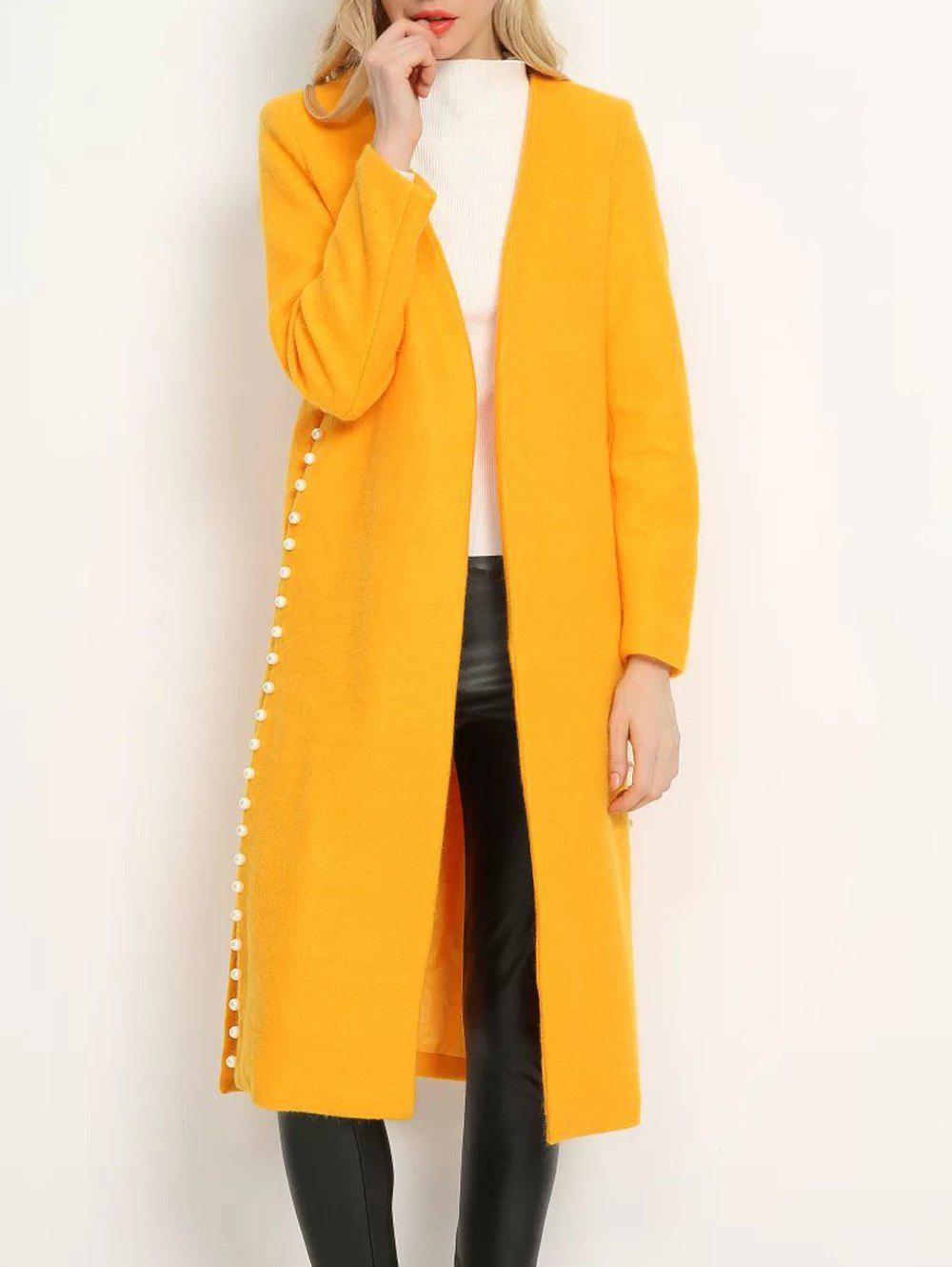 Online Open Front Beaded Duster Coat