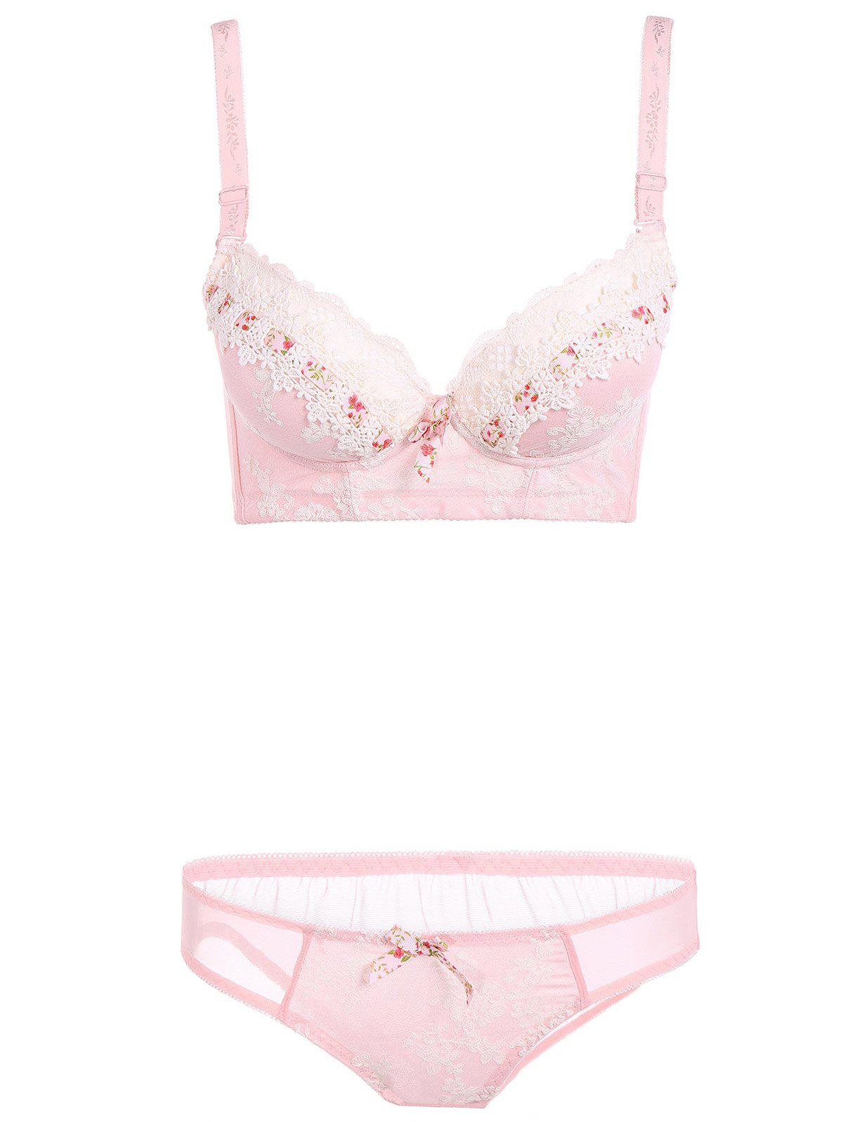 Push Up Lace Underwear épissage Bra Set