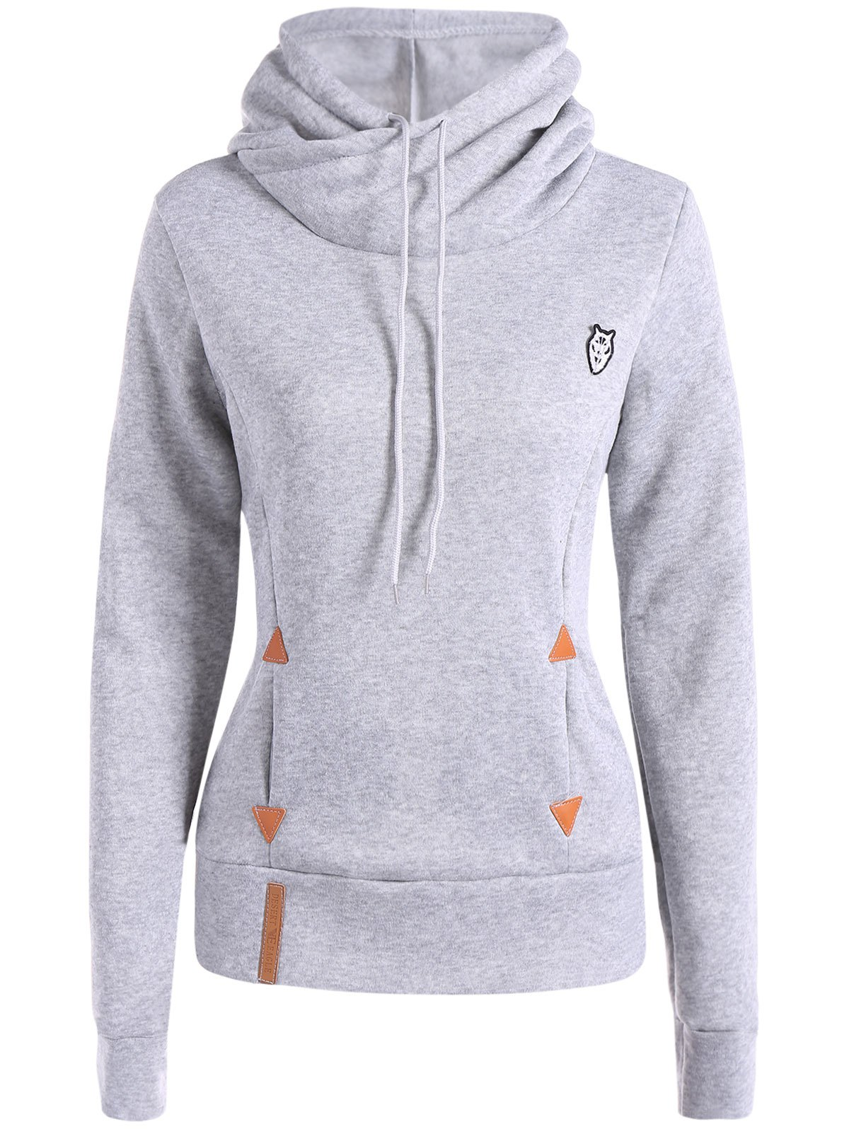 Sale Patched Casual Hoodie