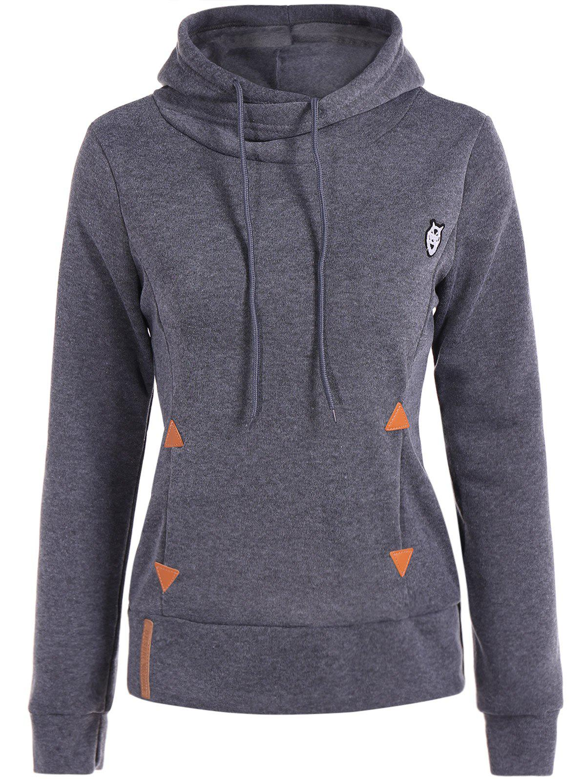 Unique Patched Casual Hoodie