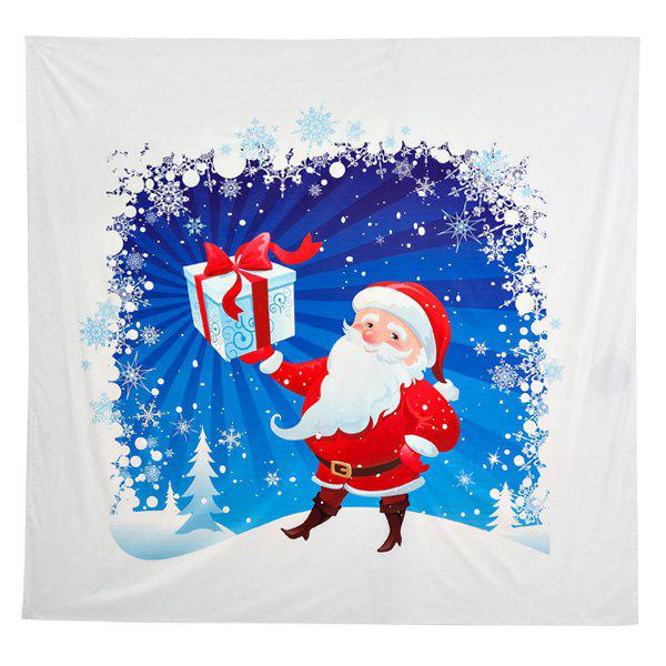 Outfits Funny Christmas Santa Claus Distributed Gifts Print Square Beach Throw