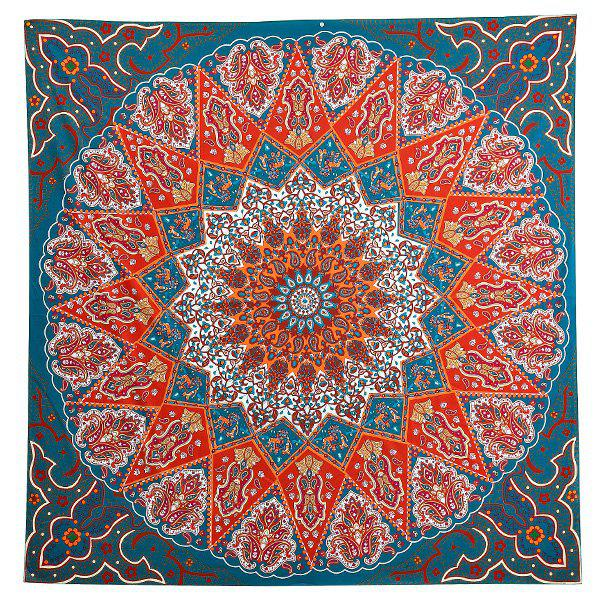 Cheap Indian Mandala Print  Square Beach Throw