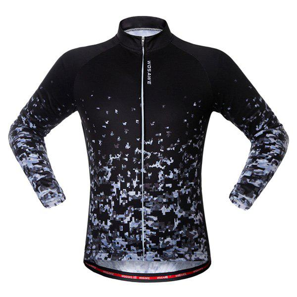 Outfits Breathable Long Sleeve Shadow Pattern Cycling Jersey