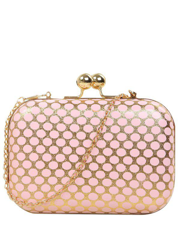 Fancy Kiss Lock Polka Dot Metal Evening Bag
