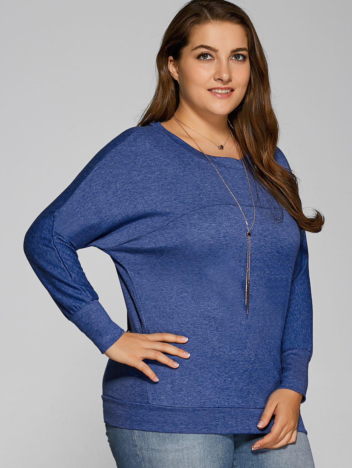 Fancy Plus Size Batwing Sleeve T-Shirt