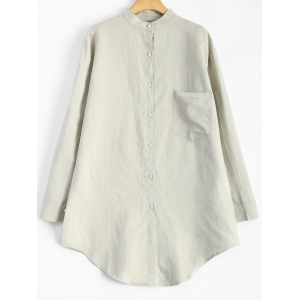 Linen Loose Pocket Shirt