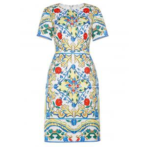Jacquard Vintage Sheath Dress
