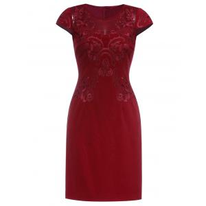 Embroidered Vintage Sheath Dress