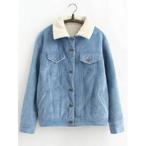 Vintage Sherpa Fleece Corduroy Jacket