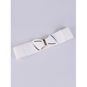 Emboss Stretch Bow Waist Belt