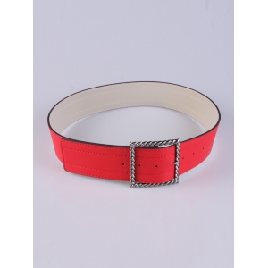 Coat Wear Hollow Twist Square Pin Buckle Belt