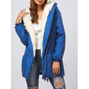 Double Pocket Parka Long Winter Padded Coat Jacket with Hood
