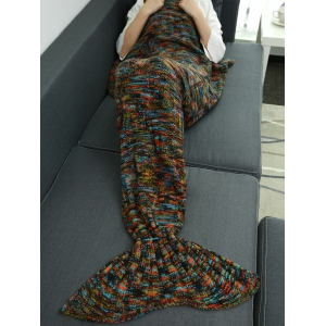 Warmer Thicken Knitted Sleeping Bag Mermaid Blanket Throw