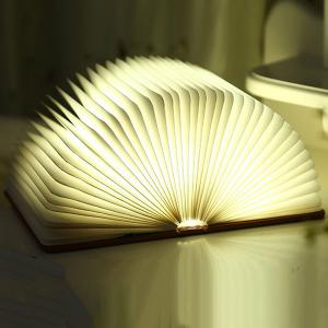 Creative 4Color Change Folding Book Table Bedside LED Night Light - Blue - S