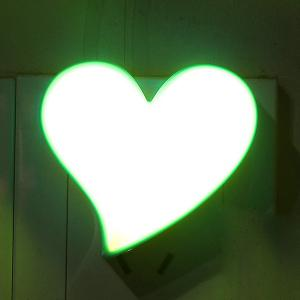 Socket Power Supply Heart Shape Table Bedside LED Night Light - Blue And Yellow