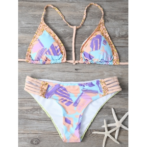 Self-Tie Ripped Bikini Set
