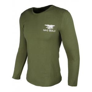 Crew Neck Eagle and Graphic Print Long Sleeve T-Shirt