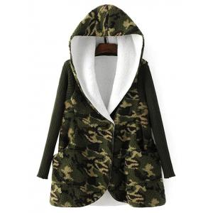Hooded Fleece Camo Coat