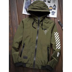 Stripe 51 Printed Zip-Up Hooded Jacket