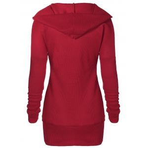 Tunic Hooded Knitwear with Button -
