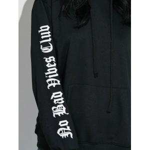 Graphic Sleeve Oversized Hoodie -