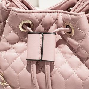 Quilted Tassel Chains Bucket Bag -