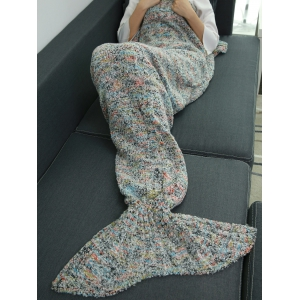 Super Soft Plush Throw Sofa Bedding Wrap Mermaid Blanket - COLORMIX