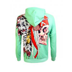 Kangaroo Pocket Drawstring Œillet Graphic Hoodie -